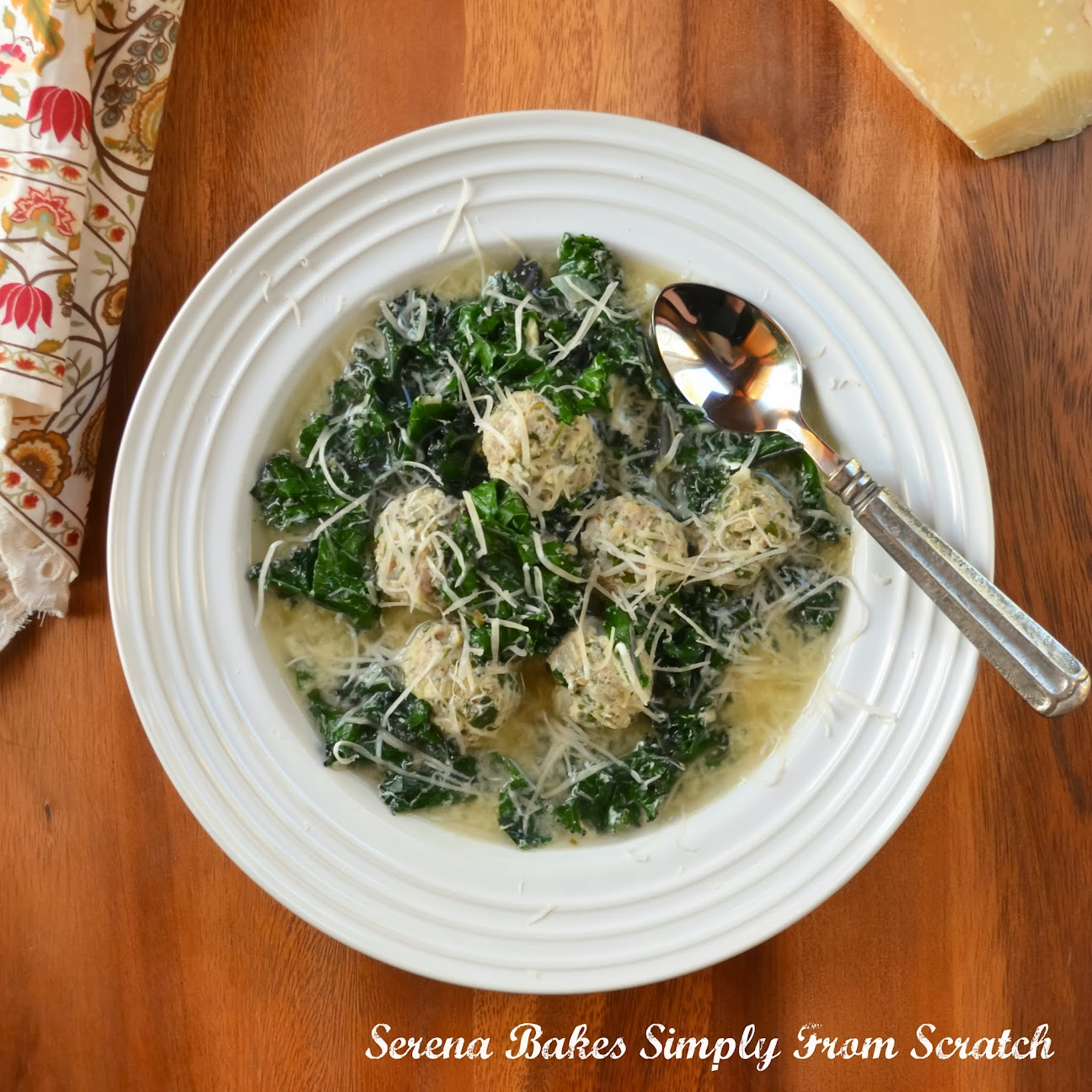 Italian Wedding Soup With Meatballs | Serena Bakes Simply From Scratch
