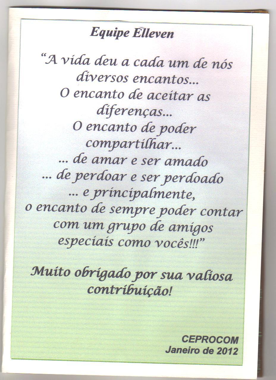 Elleven Recebe Carta De Agradecimento Da Ceprocom De São Bento Do