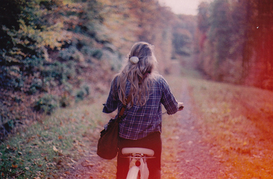 girl on bike_autumn