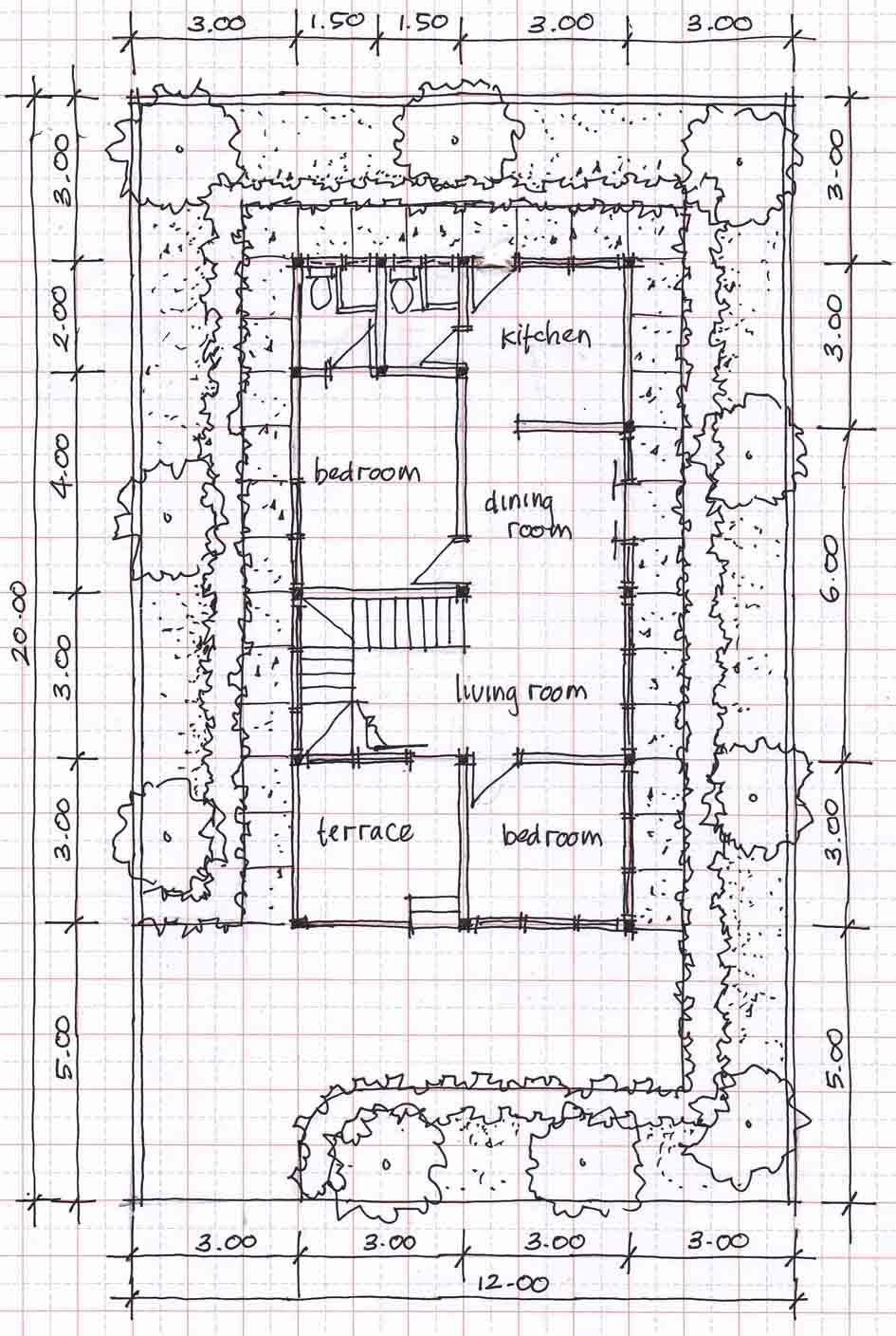 Small two story house plans 12mx20m bedroom furniture ideas for Small two story house plans