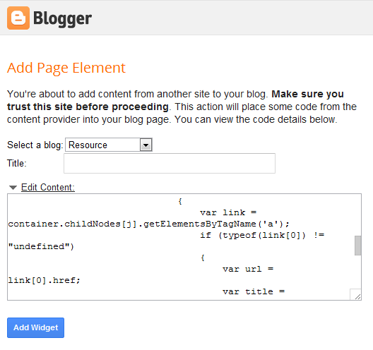 shareaholic add widget to blogger