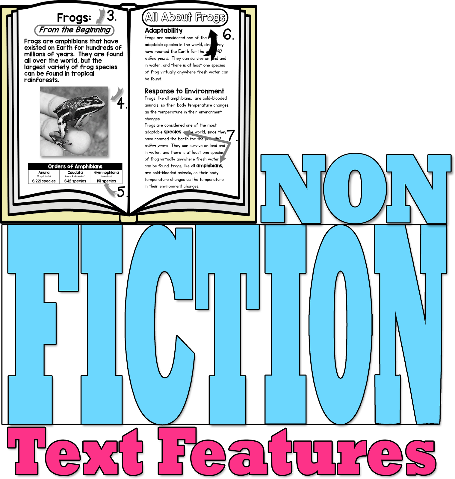 Nonfiction Text Features Mastered in 5 Easy Steps - Simply Skilled ...
