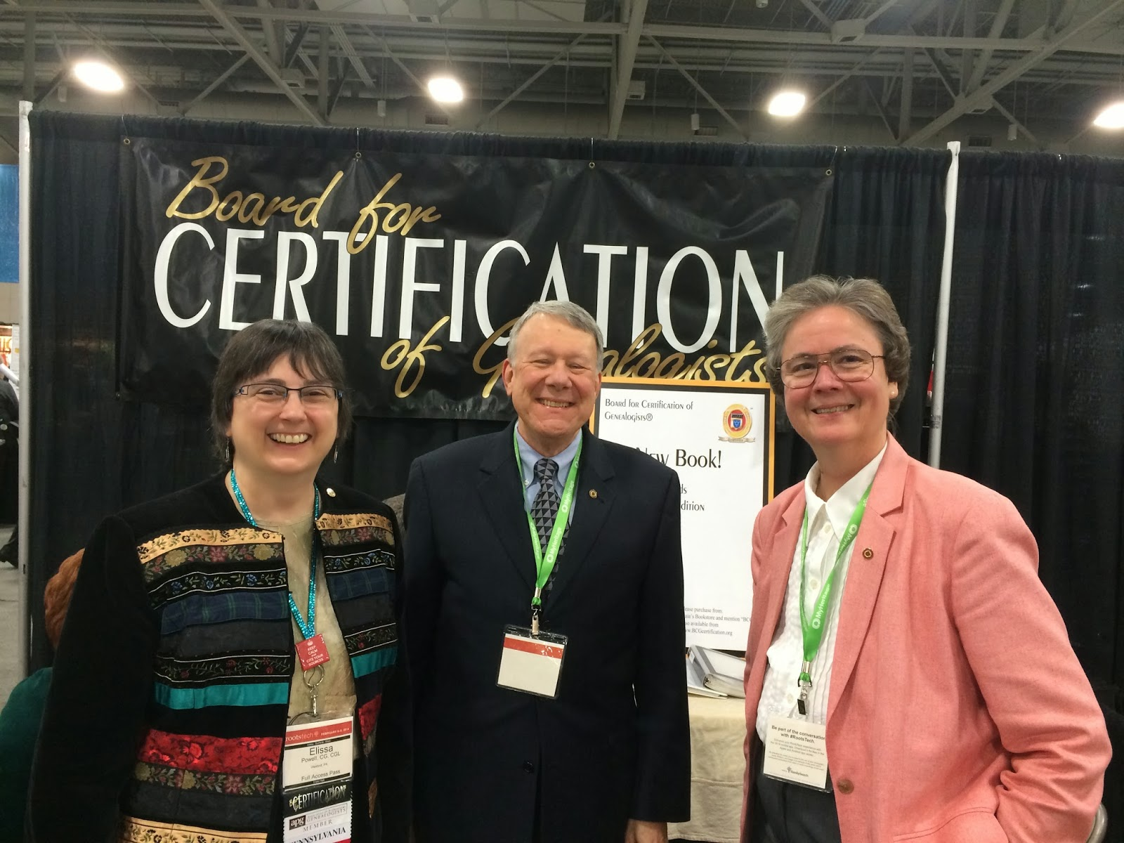 Board for Certification of Genealogists (BCG) Display in Expo Hall