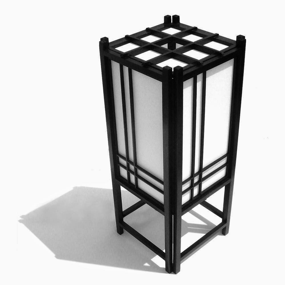 Cómo hacer una lámpara japonesa de mesa