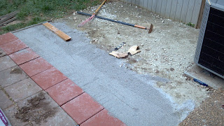 sand base layer for a patio