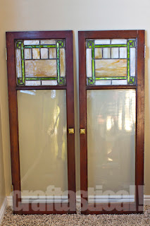 stained glass in cabinet doors