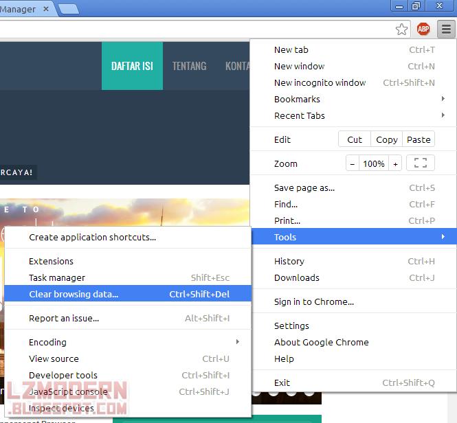 Bersihkan cache dan cookie pada browser.