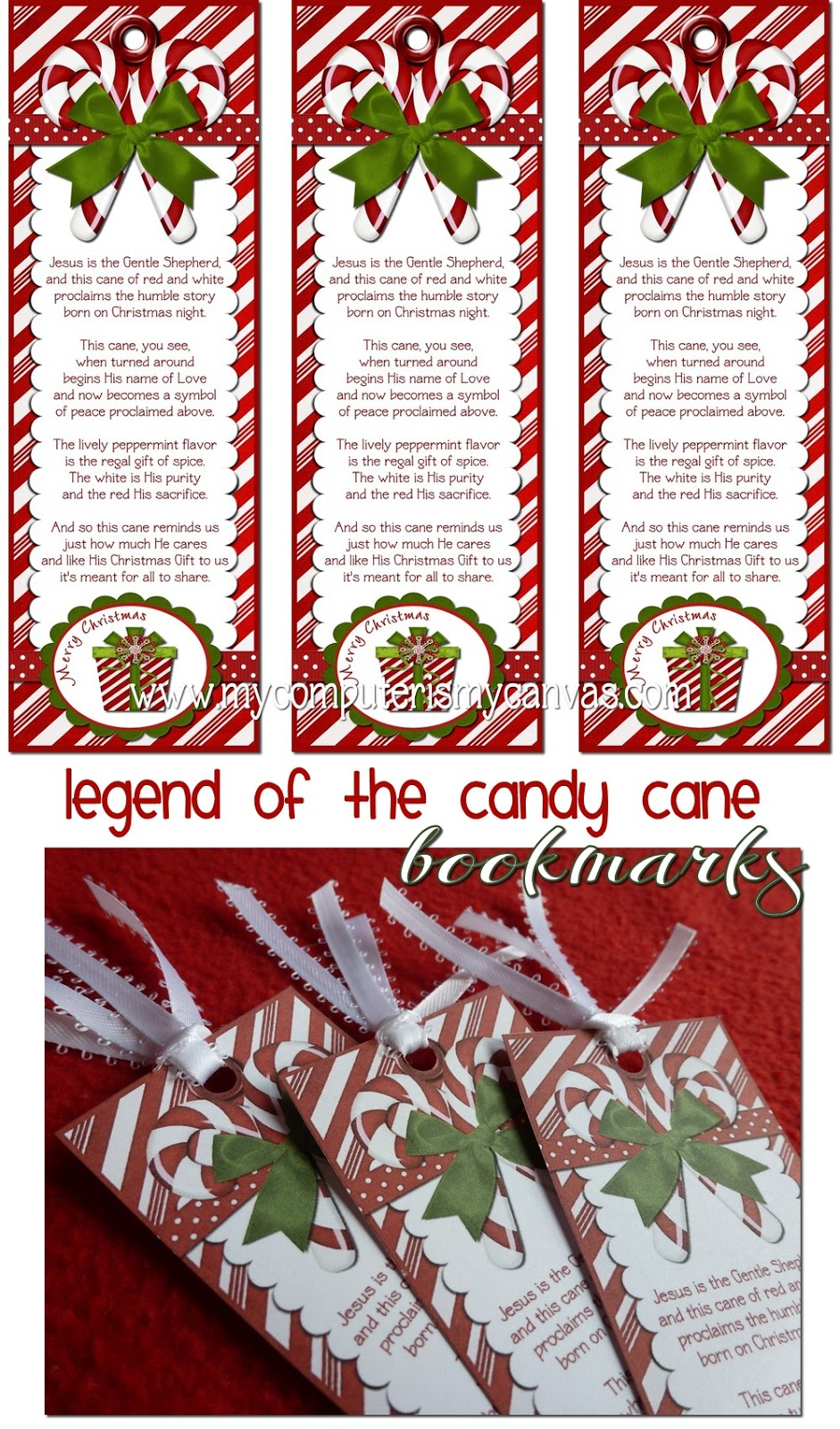 My computer is my canvas freebie candy cane legend