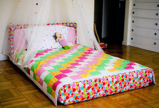 The education of ours two beautiful floor bed montessori beds for Floor bed frame