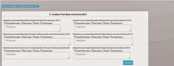 MONITORING DAN EVALUASI BUKU KURIKULUM 2013 2