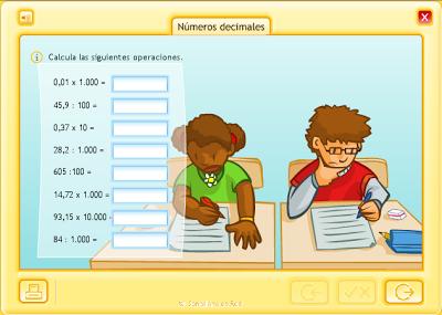 Multiplicación decimales por unidad seguida de ceros.
