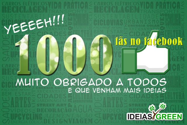 Passamos de 1000 fãs nos Facebook