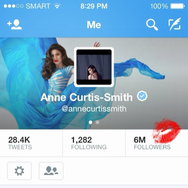 Anne Curtis reaches 6 million followers on Twitter