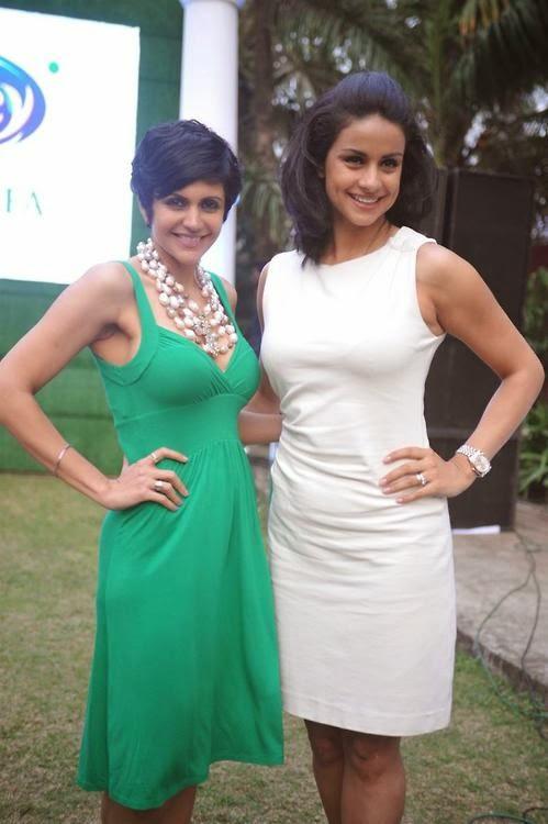 Mandira Bedi and Gul Panag Stills From Tetley Green Tea Re-Launch Event In Mumbai