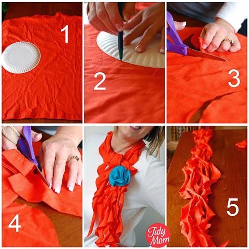 Цветы своими руками из шарфика
