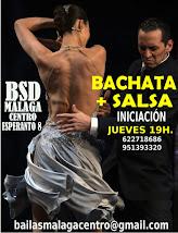 NUEVO CURSO DE BACHATA + SALSA  EN MAYO EN BSD MÁLAGA CENTRO.