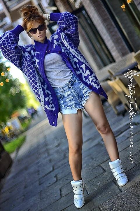 długi sweter prl