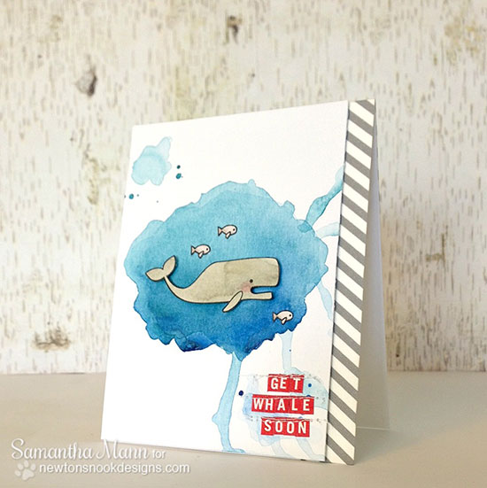 Get whale card with by Samantha Mann for Newton's Nook Designs