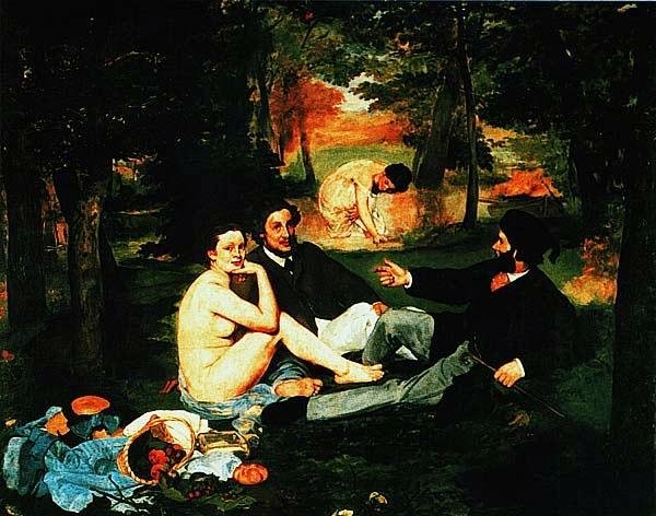 ЭДУАР МАНЕ.  Завтрак на траве. 1863.