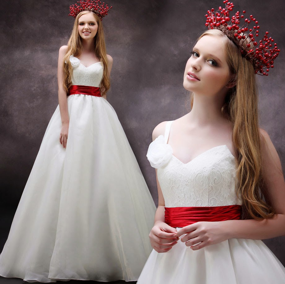 Red Accented Wedding Dresses Style Design Ideas