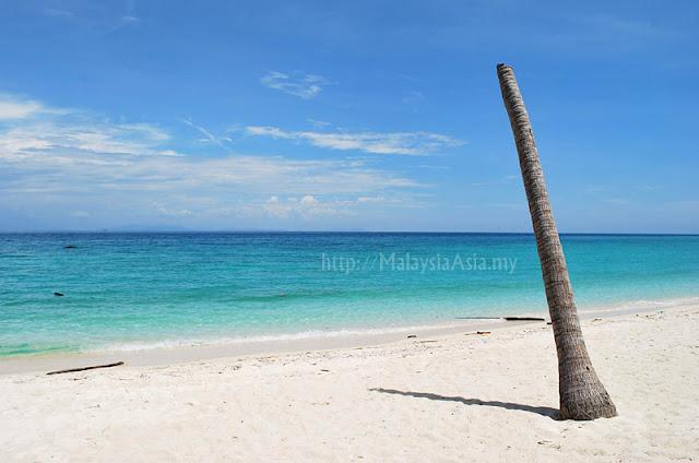 Beach at Mantanani Island