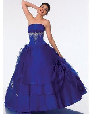 Vestido de 15 años Azul formal