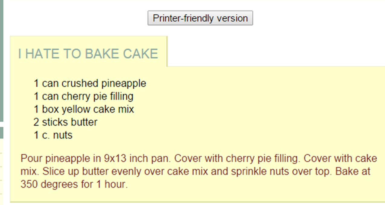 i hate to bake cake recipe