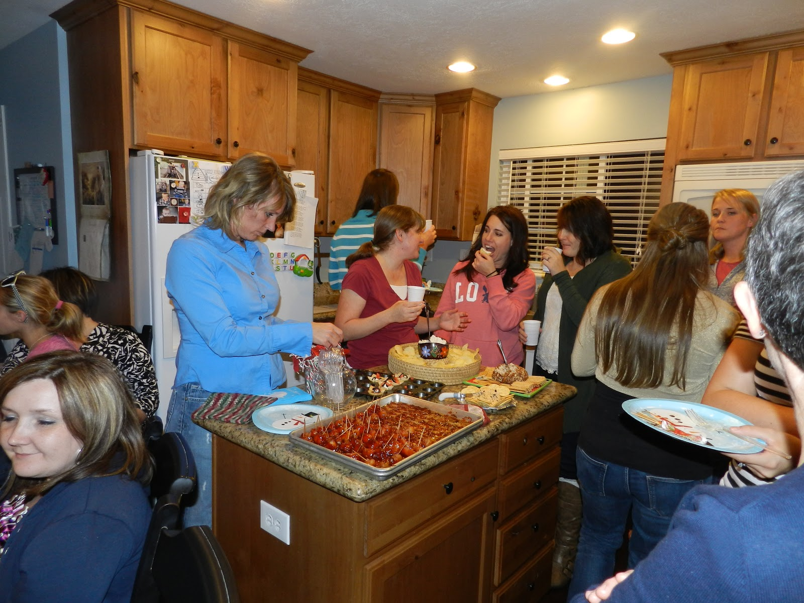 Relief Society Christmas Party Ideas Part - 36: We Mixed And Mingled And Munched!