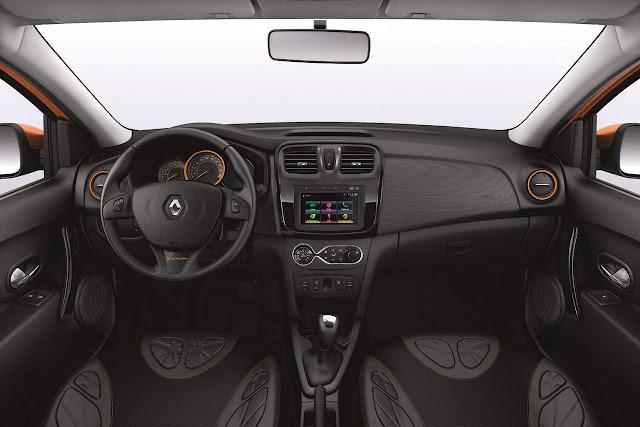 Novo Renault Sandero 2016 - interior