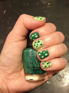 St. Patrick's Day, St. Patrick's Day nails, St. Patrick's Day manicure, Essie, OPI, Essie Navigate Her, OPI Jade Is The New Black, Essie nail polish, Essie nail lacquer, Essie mani, Essie manicure, OPI nail polish, OPI nail lacquer, OPI mani, OPI manicure, nail, nails, nail polish, polish, lacquer, nail lacquer, mani, manicure