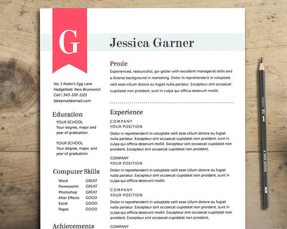 Ana Mardoll\'s Ramblings: Review: Resume Templates by ItsPrintable