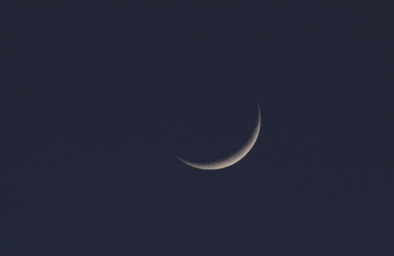 crescent moon and crescent venus at sunset stellar