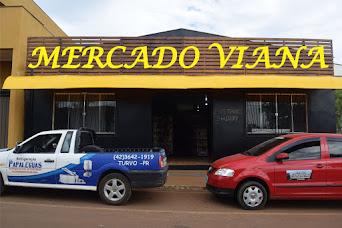 No Mercado Viana em Turvo, todo dia tem espetinhos de carne