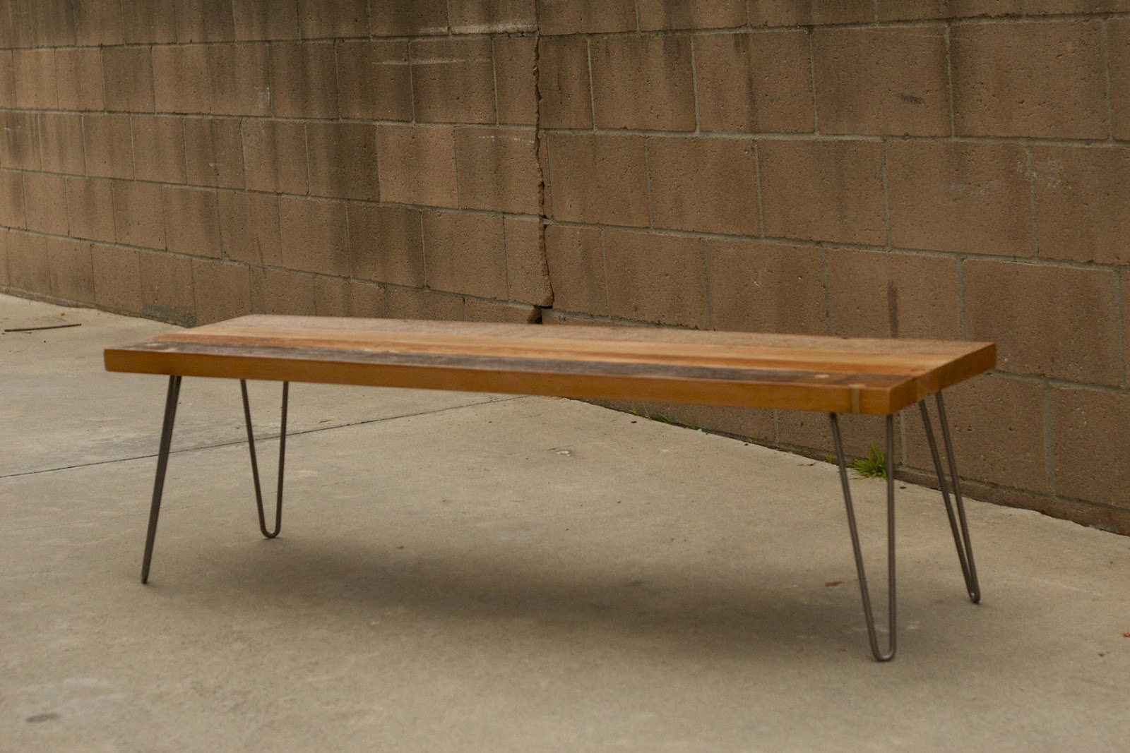 Arbor Exchange | Reclaimed Wood Furniture: Patchwork Coffee Table W/  Hairpin Legs