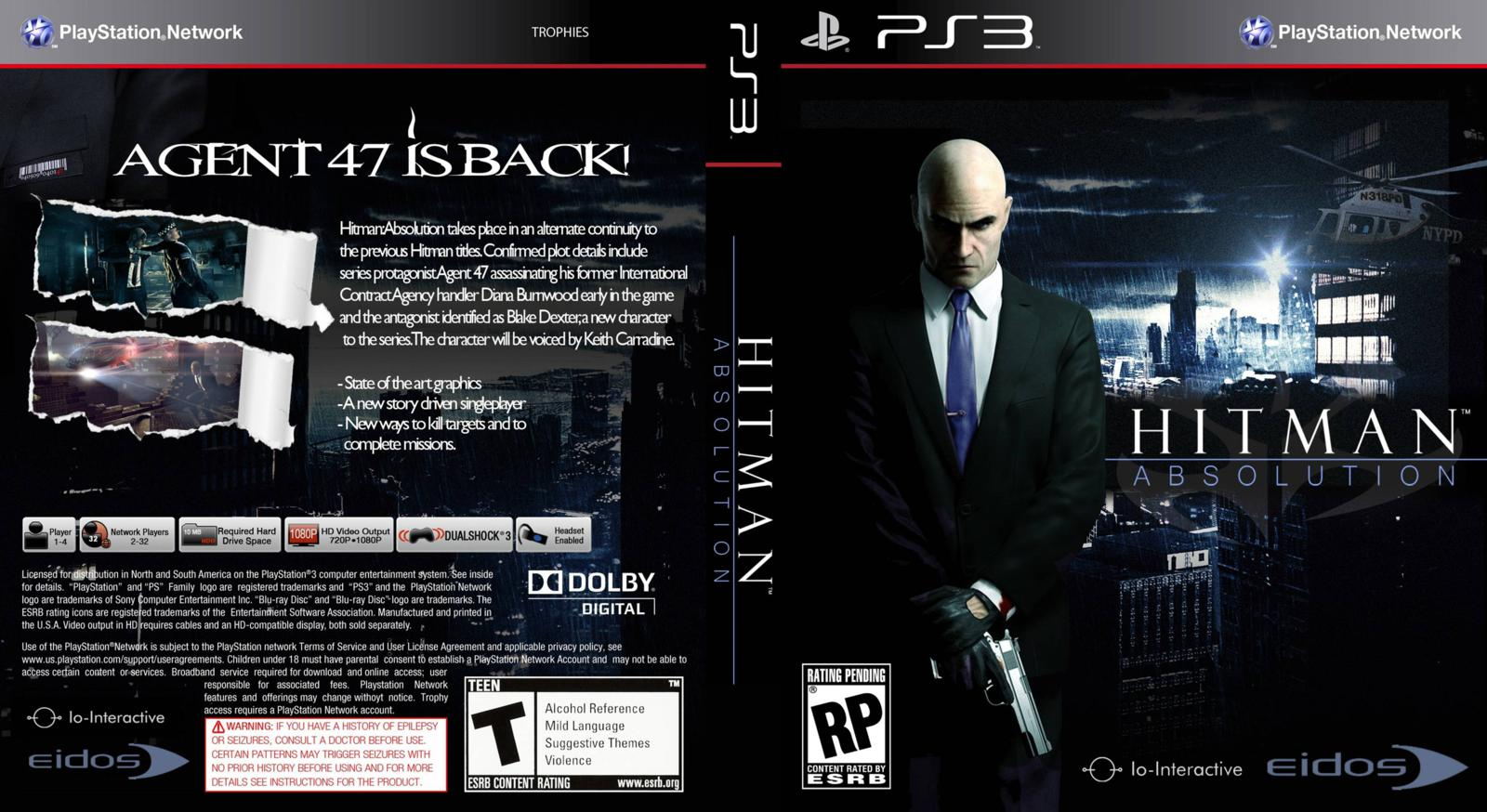 Capa Hitman Absolution PS3