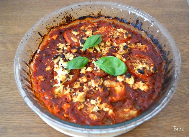 zapečená cukina s paradajkami