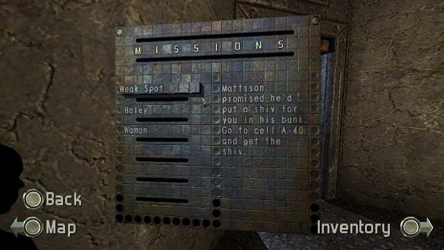 Chronicles of Riddick Escape from Butcher Bay missions menu