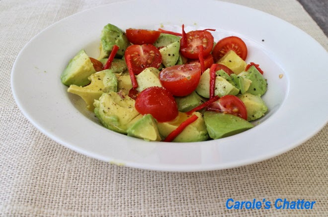 Avocado Tomato Chilli Salad by Carole's Chatter