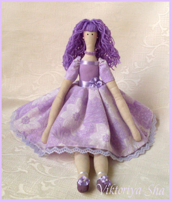 кукла Тильда - Виолетта