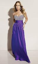 Long Strapless Purple Prom Dresses