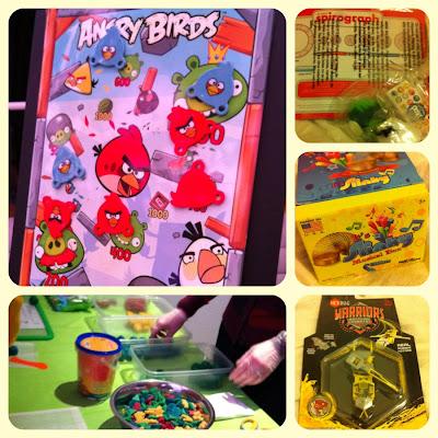 Angry Birds, Yummy Dough, Spirograph, Pomz, Slinky, Hex Bugs