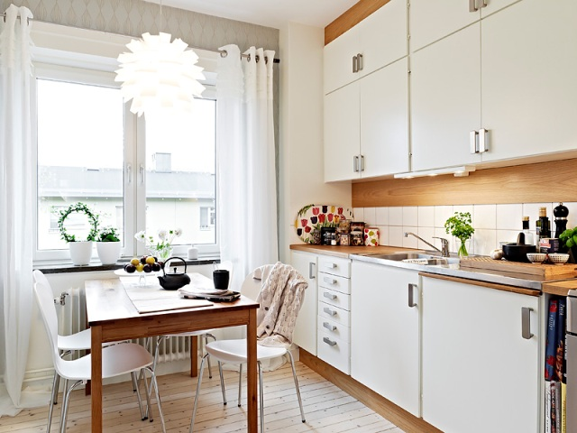 Apartamento en tonos beig shades of beige color for - Cocinas decoradas en blanco ...