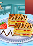 Готовим торт Наполеон - Онлайн игра для девочек