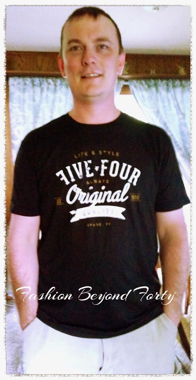 Five Four Logo Tee Fashion Beyond Forty