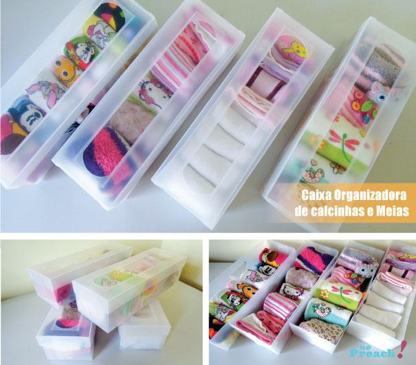 caixas organizadoras para meias e clacinhas - roupas íntimas
