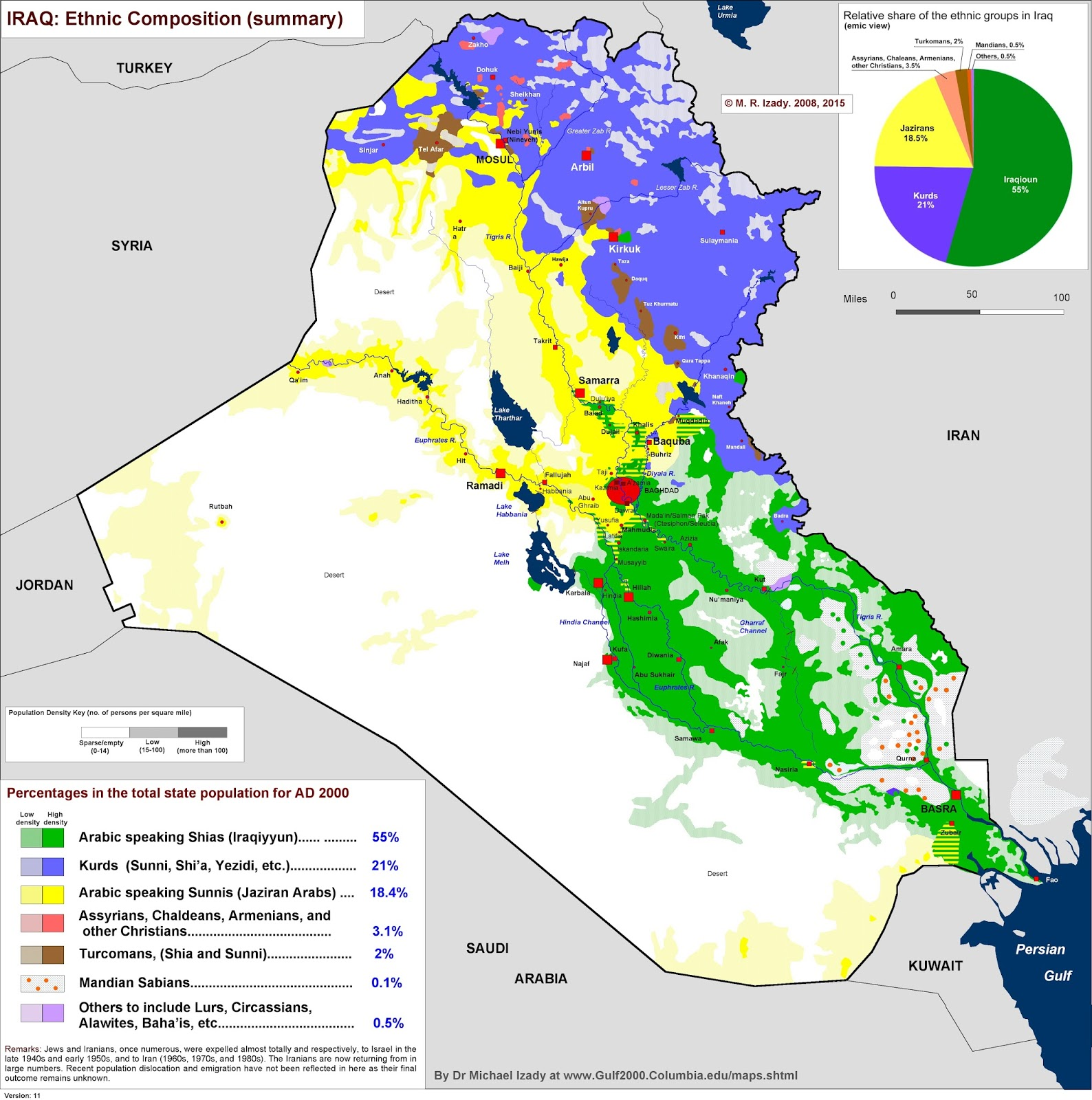 Ethno-religious map of Iraq