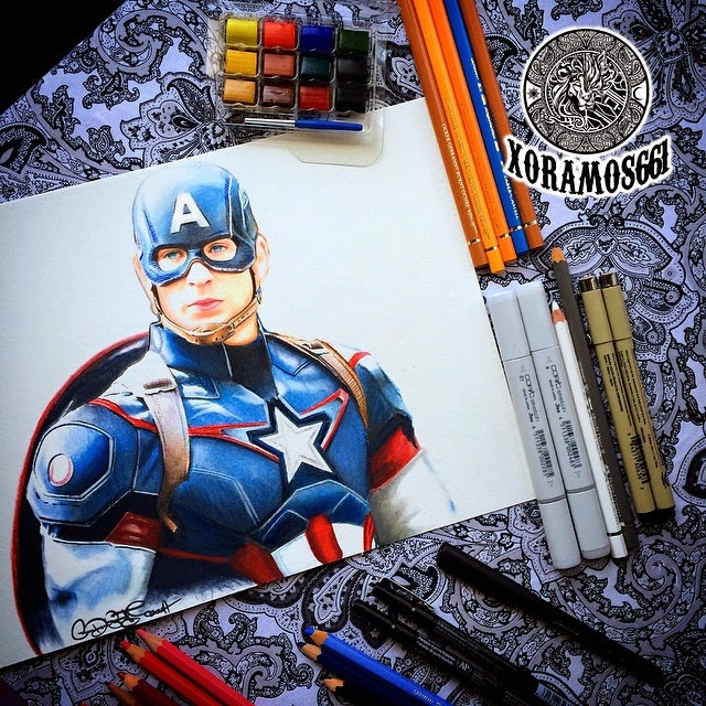 02-Captain-America-Ramos-Ruben-xoramos661-Photo-Real-Comic-Book-Coloured-Drawings-www-designstack-co
