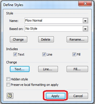 how to change default font size on rich text document
