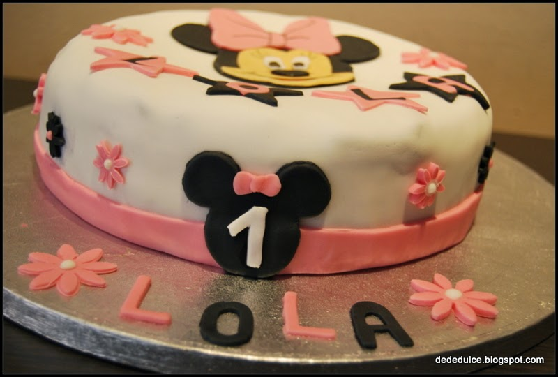 Dededulce tarta decorada de minnie para el cumple de lola - Lola decoracion ...