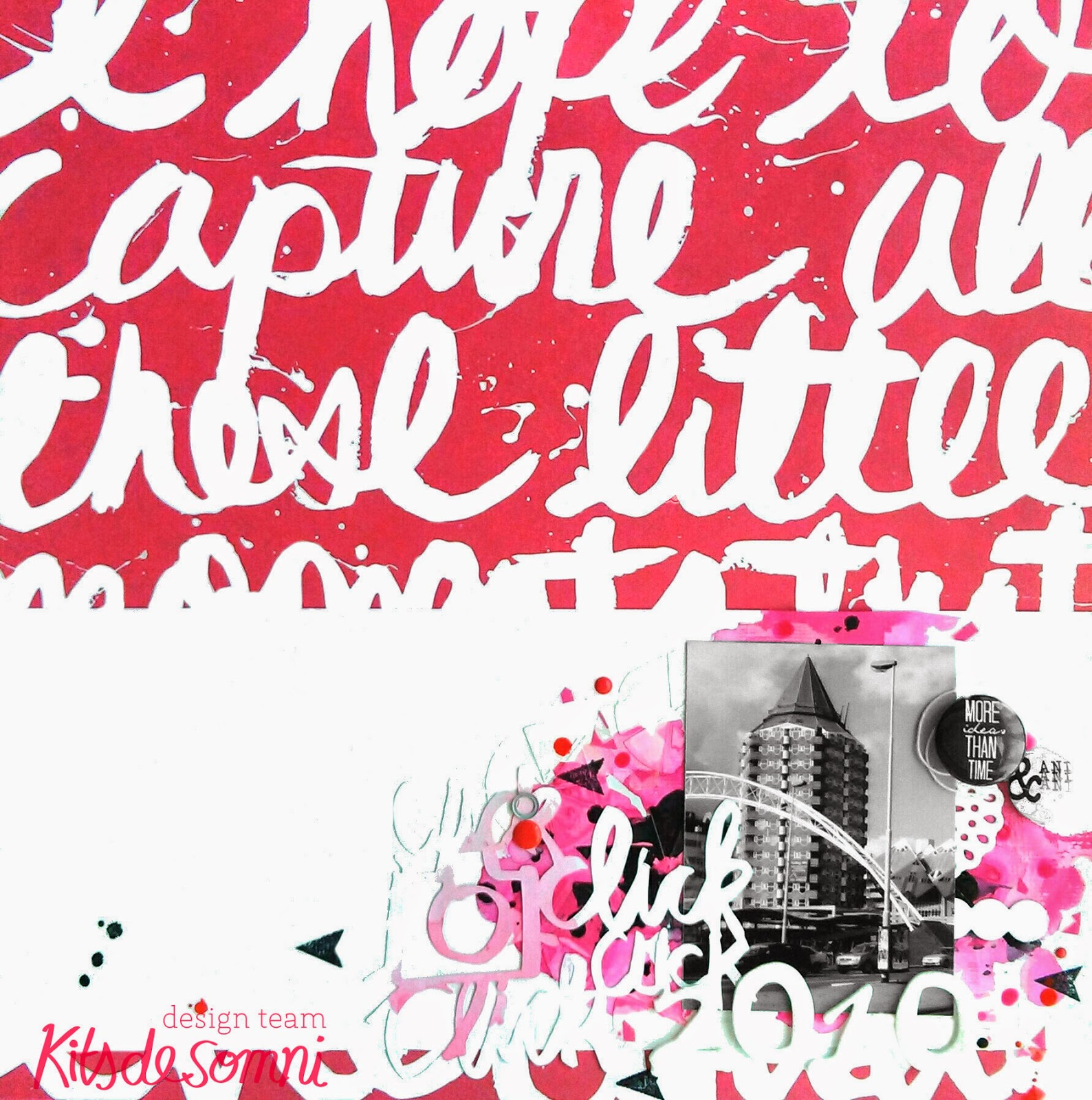 Layout Scrapbooking Rosa - Pink